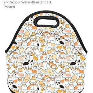 Corgi Dog Neoprene soft lunch box
